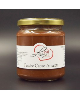 Pesche con Cacao e Amaretti